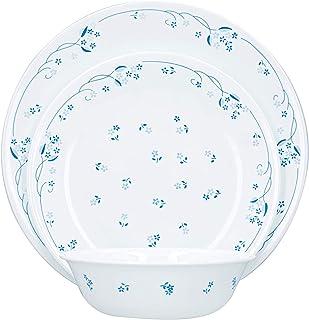 Corelle Vitrelle 3-Layer Provincial Blue 18 Pieces Dinnerware Set, White, Glass