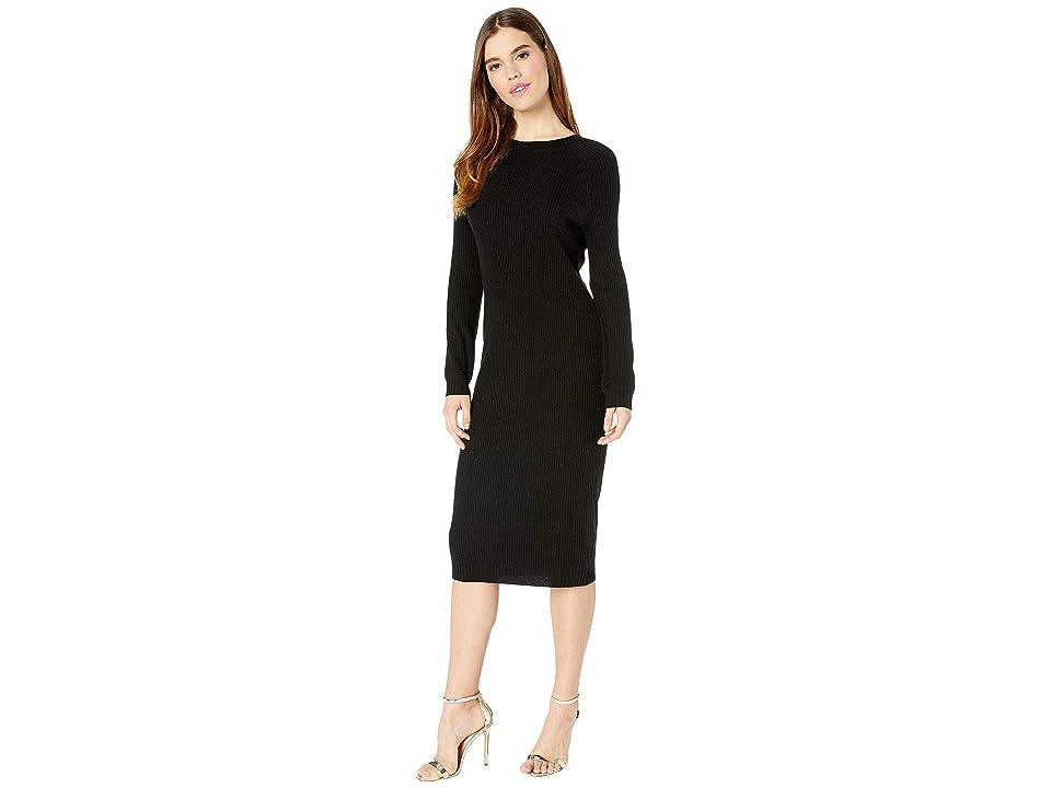 AG Adriano Goldschmied Quaid Raglan Dress (True Black) Women