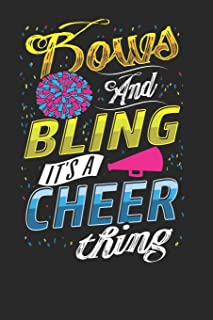 Bows and Bling it's a Cheer Thing: Cheerleader Notebook Journal, Composition Book College Wide Ruled, Gift for Coach, Chee...