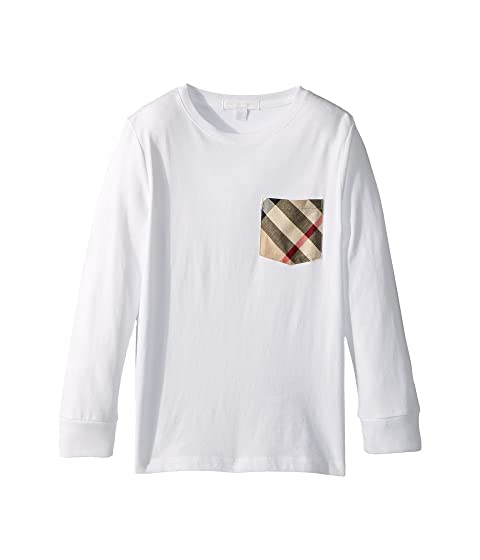Burberry Kids Long Sleeve Tee w/ Check Pocket (Little Kids/Big Kids)