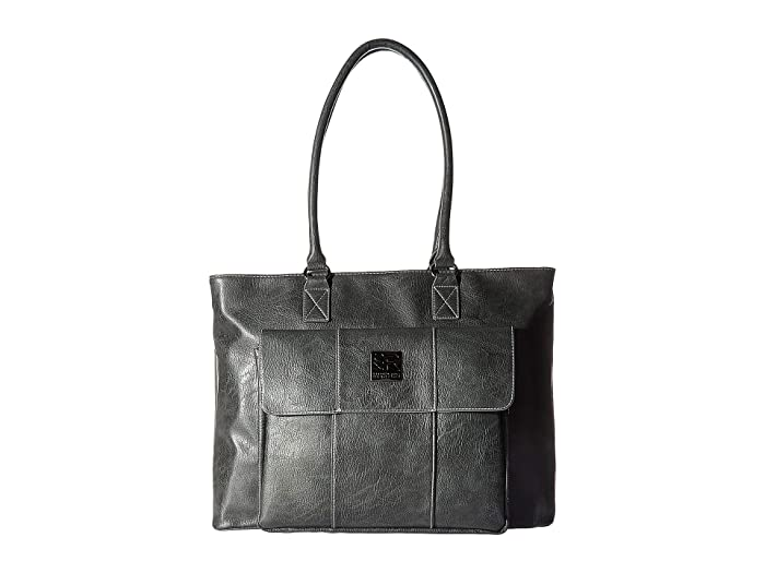 Kenneth Cole Reaction  Faux Leather 16 Computer Business Tote (Charcoal) Handbags