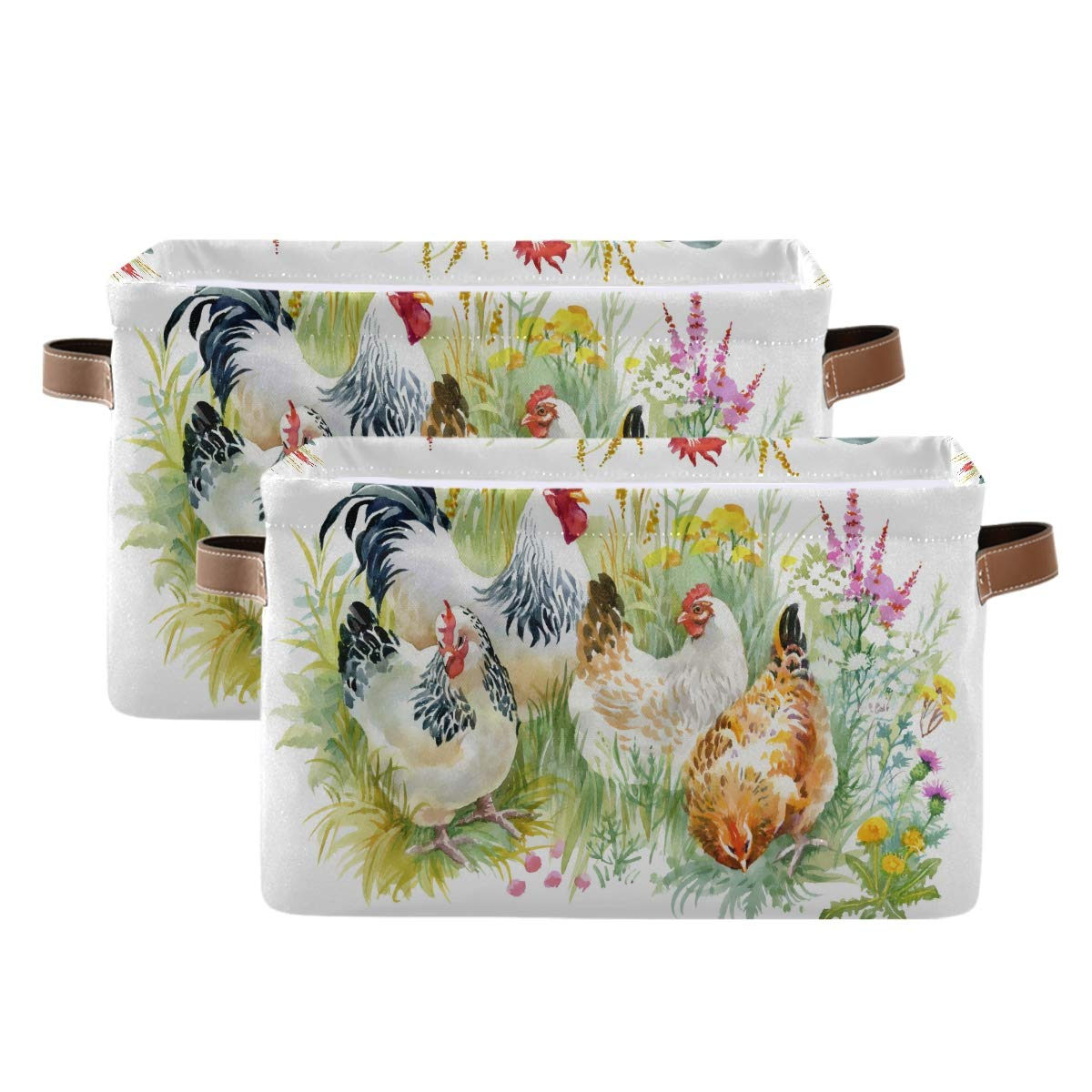 Department store WXLIFE Storage Basket Bins Farm 4 years warranty Lea Animal Rooster Flower Autumn