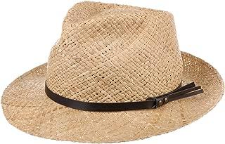 da Sole Estivo Cappelli Spiaggia con Nastro Grosgrain Primavera//Estate Stetson Cappello in Rafia Cantalo Diamond Uomo
