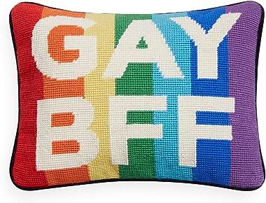 Jonathan Adler Gay BFF Needlepoint Throw Pillow, Multi