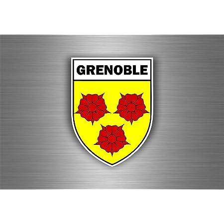 Akachafactory Aufkleber Sticker Auto Motorrad Wappen Stadt Grenoble Region Armoirie Flagge Auto