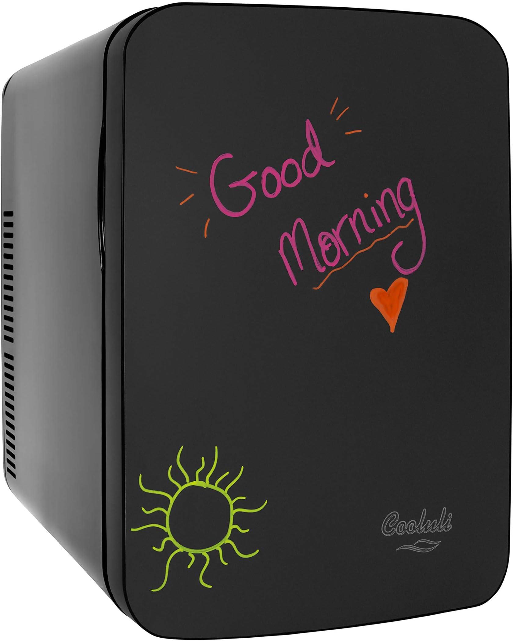 Cooluli Vibe Black 40 Liter Compact Portable Cooler Warmer Blackboard Mini  Fridge for Bedroom, Office, Dorm, Car   Great for Skincare & Cosmetics ...
