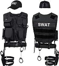 Black Snake® Disfraz de Agente Especial SWAT FBI Police Security Traje de Carnaval