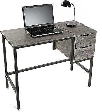 Versa Lynton Bureau Informatique Poste de Travail Table d'étude pour Ordinateur, avec 2 tiroirs, Dimensions (H x l x L) 7