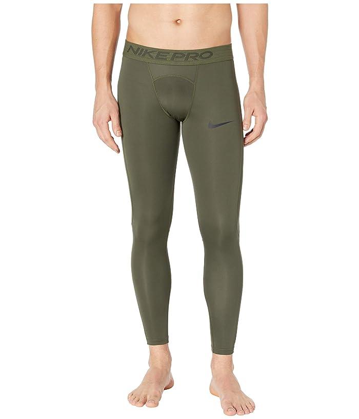 Nike   Pro Tights (Cargo Khaki/Black) Mens Casual Pants