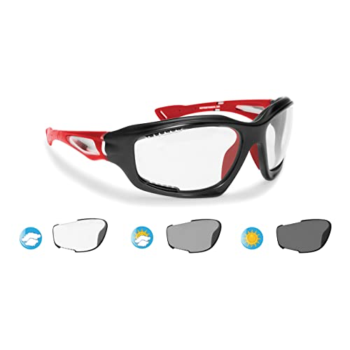 e692b3da228e5 Bertoni Sport Sunglasses Photochromic cat. 0-3 Antifog for Cycling Running  Golf Ski Watersports