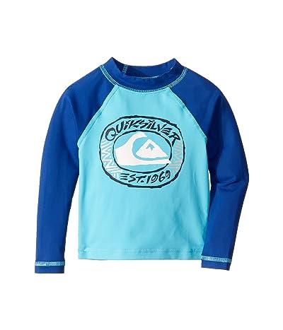 Quiksilver Kids Bubble Dream Long Sleeve Rashguard (Toddler/Little Kids) (Blue Atoll) Boy