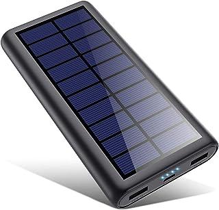 comprar comparacion SWEYE Cargador Solar 26800mAh,【2020 Nueva Versión】Batería Externa Solar de Carga Rápida con 2 Puertos USB Powerbank con Te...