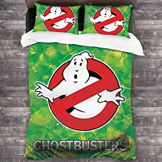Zhangyi Ghostbusters Bedding 3-Piece Twin Bed Sets,Quilt Cover Large 3 Piece Bedding Set Soft and Breathable Comforter Cover