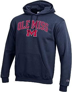 Elite Fan Shop Mississippi Ole Miss Rebels Hooded Sweatshirt Varsity Navy