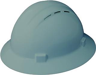 ERB 19637 Americana Full Brim Vent Mega Ratchet Hard Hat, Size: 6 1/2 - 8, Gray