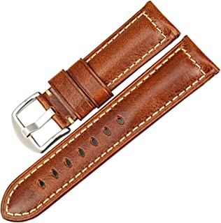 MAIKES Vintage Leather Strap Watch Band 22mm 24mm 26mm Watch Accessories Watchband Watch Strap