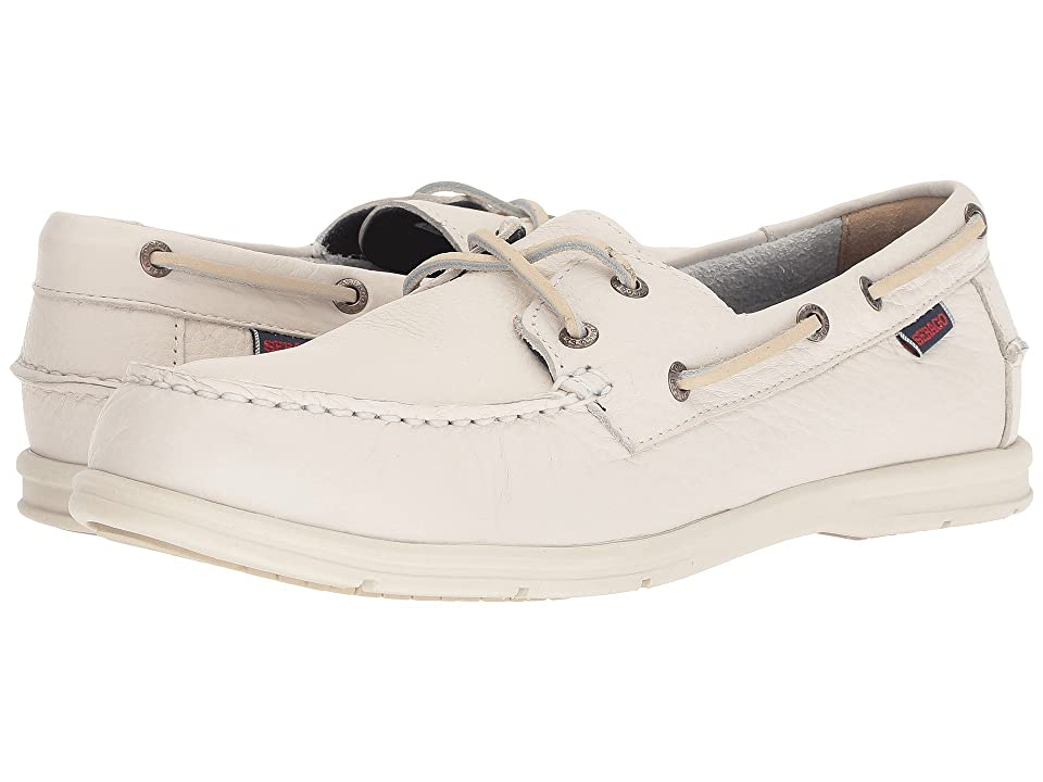 Sebago Litesides Two-Eye (White Leather) Men