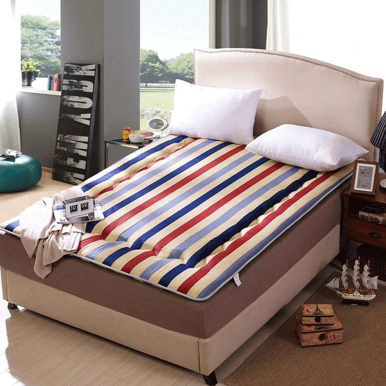 Non-Slip Breathable Mattress, Student Dormitory Sponge Pad, Foldable Thick Cotton Floor (color   D, Size   150cm)