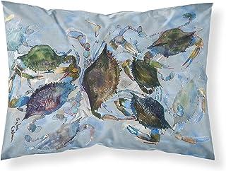 Caroline's Treasures 8016PILLOWCASE Crab Moisture Wicking Fabric Standard Pillowcase, Large, Multicolor