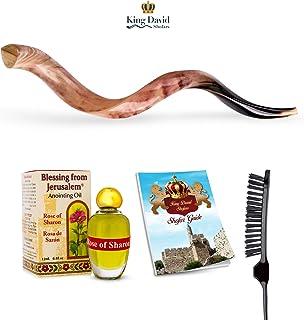 "Shofar Horn Instrument – Shofar Angels Musical Instrument – Horn Gift from Israel – Kosher Jewish Shofar – Traditional Holy Instrument for Jewish – Traditional Israeli Horn - POLISHED (43""-46"")"