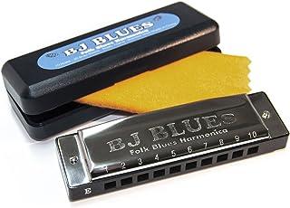 BJ Blues 287520 Folk Blues 10-Hole Diatonic Harmonica