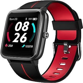 JessFash Smart Watch Fitness Watch Reloj Deportivo a Prueba de Agua IP68 Correr Sueño Monitor de frecuencia cardíaca GPS Cronómetro Pantalla táctil Completa Rastreador de Ejercicios