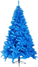 Blue Artificial Christmas Tree, Easy Assembly Xmas Tree Flame Retardant Holiday Decoration PVC New Year Ornament for Home ...
