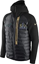 Nike Men's Carolina Panthers Super Bowl 50 Tech Fleece Aeroloft Jacket Black