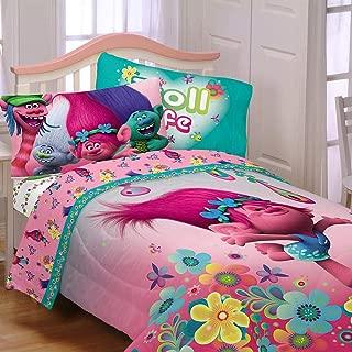 Dreamworks Trolls Reversible Twin Comforter & Sheets K (4 Piece Bed In A Bag) + HOMEMADE WAX MELT