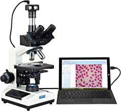 OMAX 40X-2500X Phase Contrast Trinocular LED Compound Microscope with 9MP Digital Camera