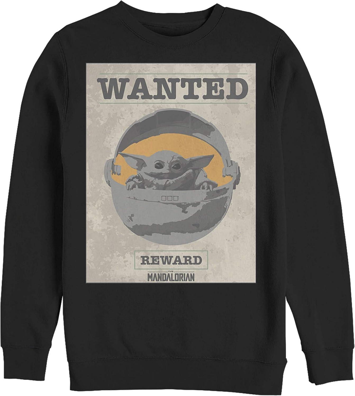 Over item handling Men's Nashville-Davidson Mall Star Wars The Mandalorian Wanted Sweatshirt Sign Child