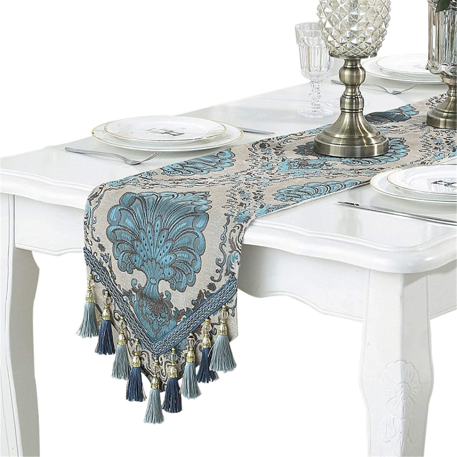 Direct stock discount Embroidery Luxury Table Runner Washington Mall Jacquard with Fabric