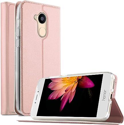 Huawei Honor 5C Pro Case, Flip Premium Case Cover for Honor 5C Pro/Huawei Honor 6A, Rose Gold