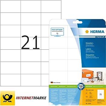 525x HERMA Universal-Etiketten weiß permanent haftend Vielzwecketiketten Sticker
