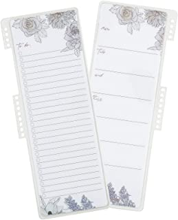 Snap-in to-Do List Dashboard in Flora, Double-Sided, Wet-Erase Dashboard You can Snap Into Your Coiled Planner or Binder, ...