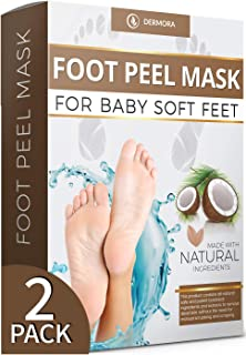Coconut Foot Peel Mask - 2 Pack - For Cracked Heels, Dead Skin Calluses - Make Your Feet Baby Soft Get Smooth Silky Skin -...