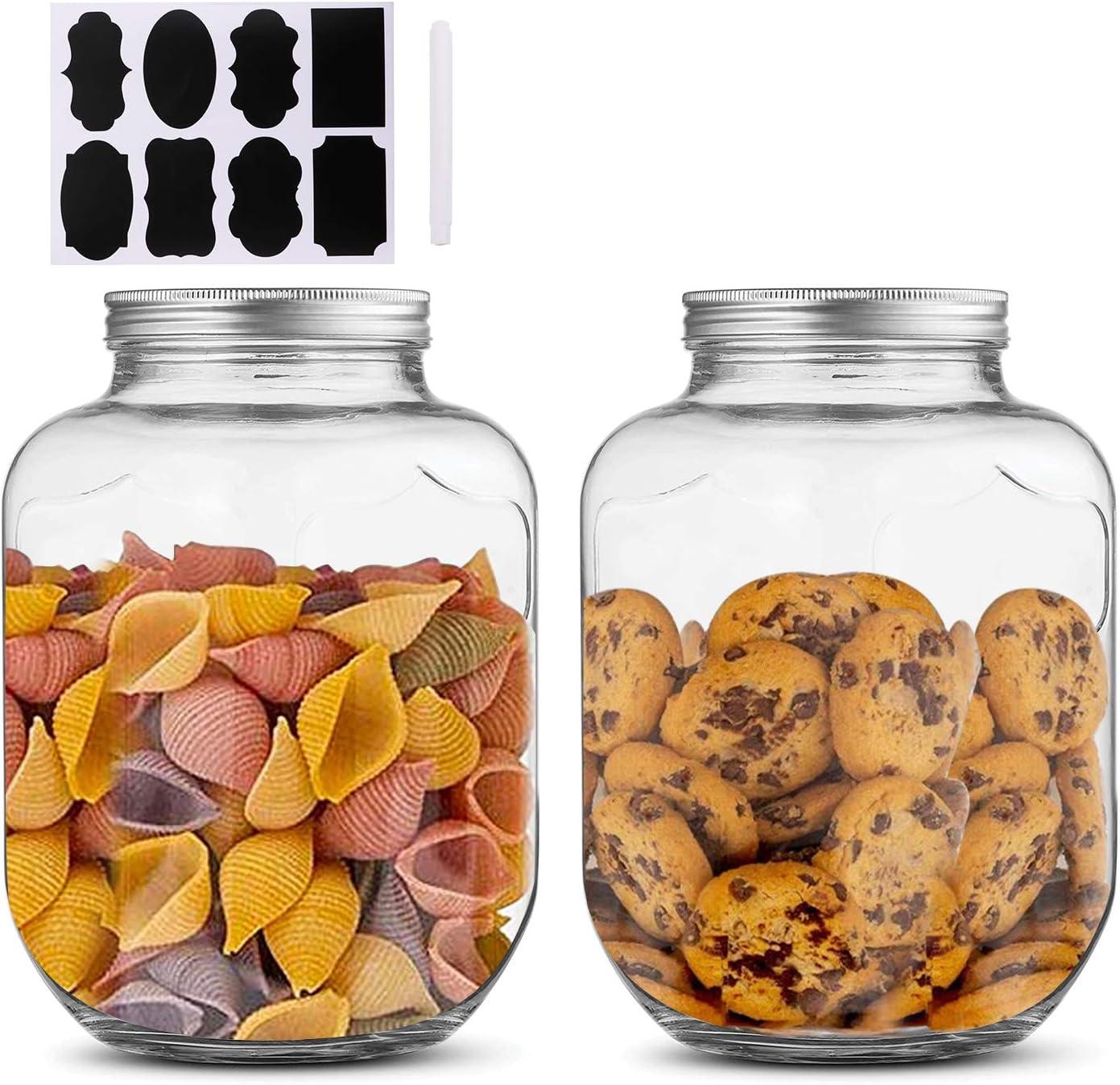 1 Gallon Max 73% OFF 4000ml Clear Mason Jar With Glass Airtight Raleigh Mall Jars Lids
