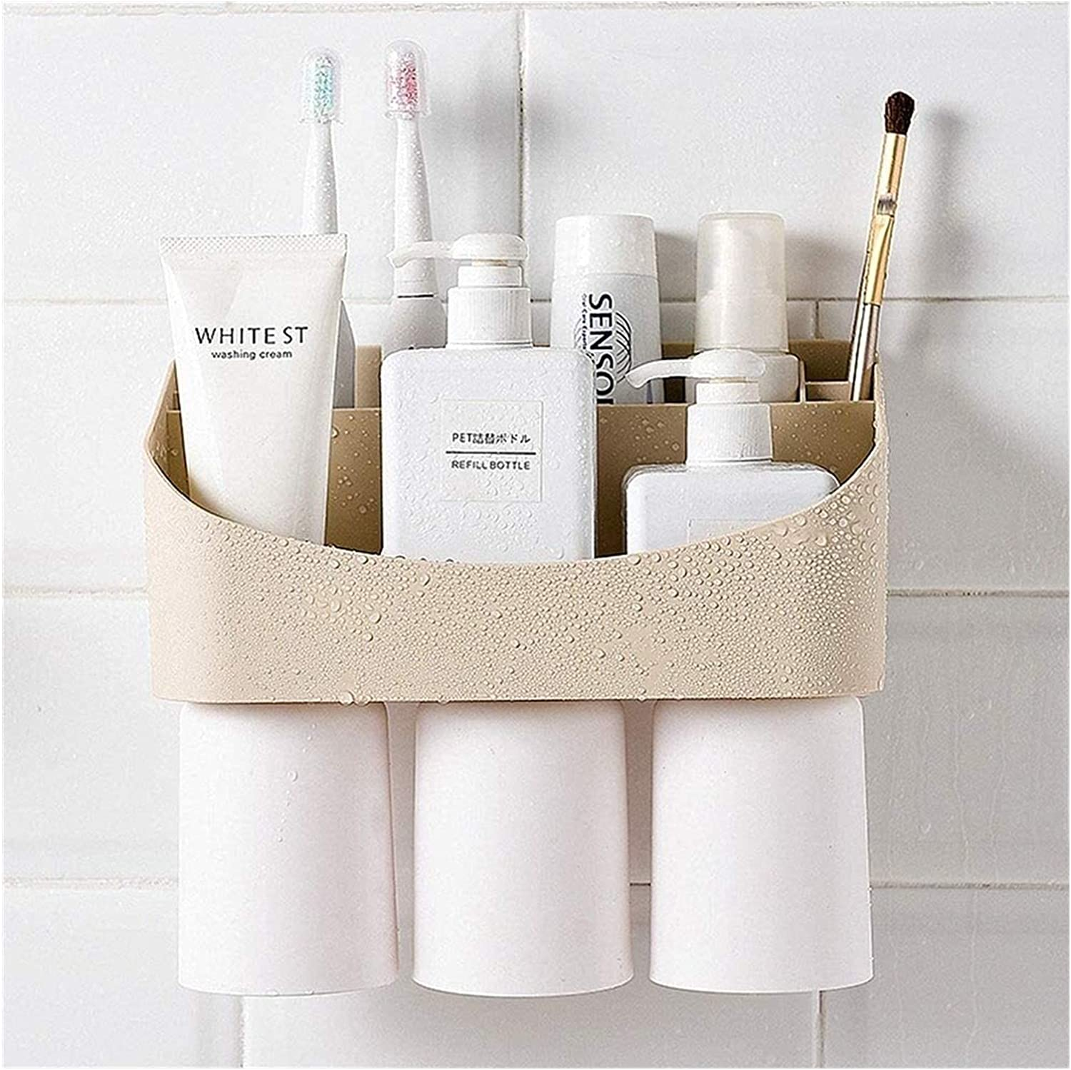 NUGYE Toothbrush and Max New item 52% OFF Toothpaste Holder Shelf Storage Or Bathroom