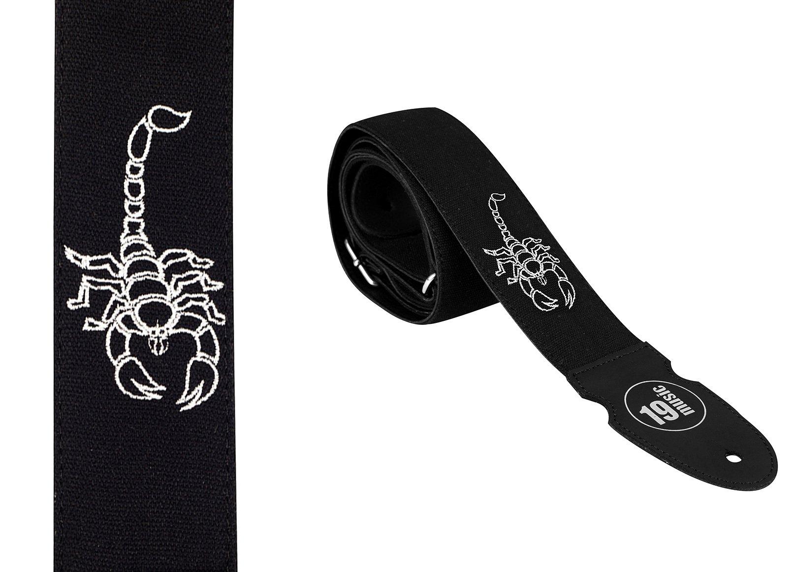 Estuche de lujo boardado el bajo de la guitarra de la correa de la Scorpion: Amazon.es: Instrumentos musicales