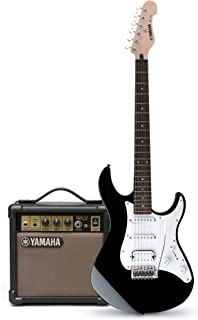 Yamaha EG112 Electric Guitar with Amplifier (Accessory Kit, Black Gloss)