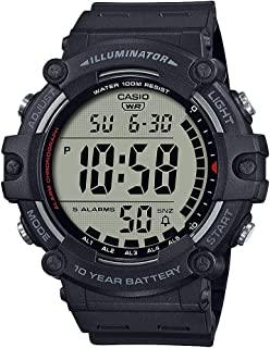 Men's Quartz Resin Strap, Black, 27.63 Casual Watch...