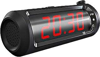 "SYLVANIA SCR1245-USB 1.8"" Jumbo-Digit Projection Dual-Alarm Clock Radio with USB Charging"
