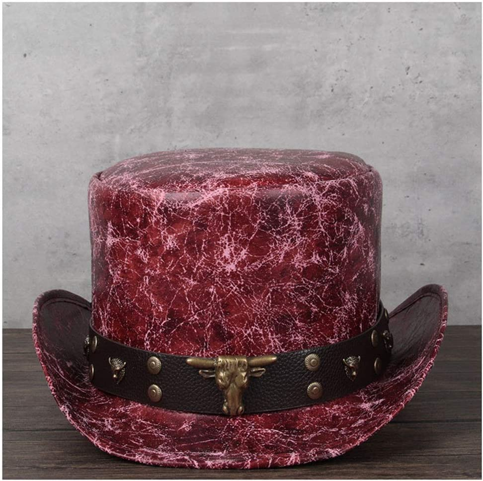 LHZUS Hats Elegant Leather President Hat Party Me Max 57% OFF Men Ladies Brand new