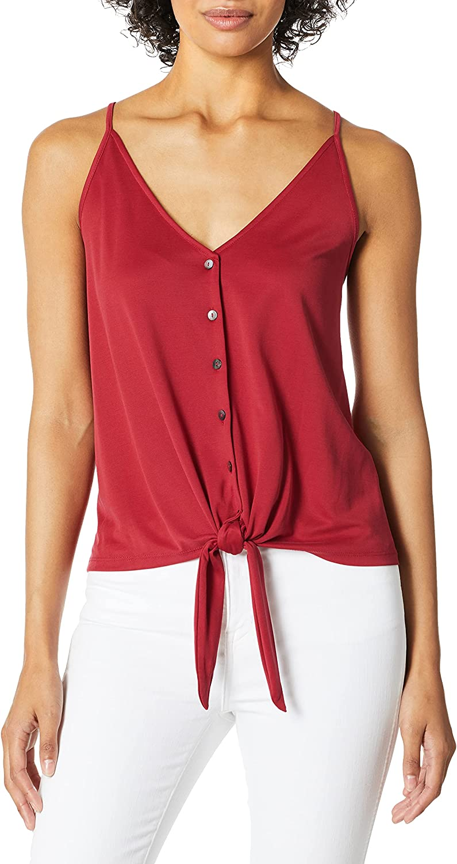 kensie Women's Modal Jersey Tie-Front Tank Top