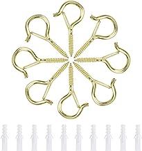 INCREWAY Q-Hanger Haken, 30 Stks Duurzame Metalen Schroef Haken Outdoor Kerst String Lights Hangers Plafond Haken Met Veil...
