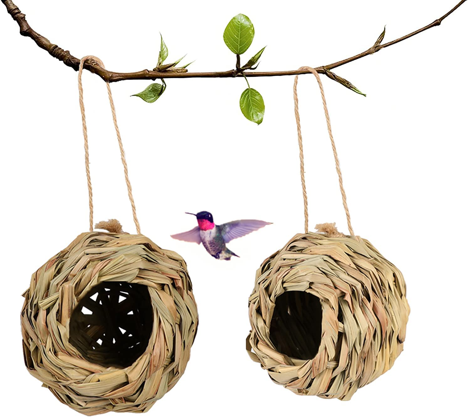 Humming Special Campaign Bird House Max 43% OFF Outdoor Hand Houses for Hummingbird Woven Out