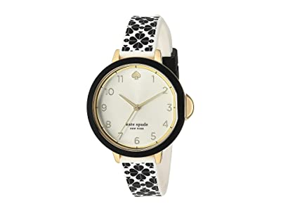 Kate Spade New York Park Row Flower Silicone Watch KSW1569 (Black) Watches