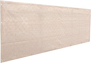 Best Alion Home Elegant Privacy Screen for Backyard Deck, Patio, Balcony, Fence, Pool, Porch, Railing. Banha Beige (3