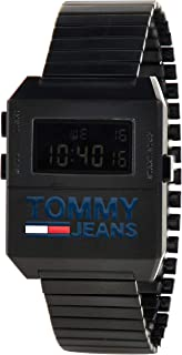 Tommy Hilfiger Black Dial Ionic Plated Black Steel Watch For Men