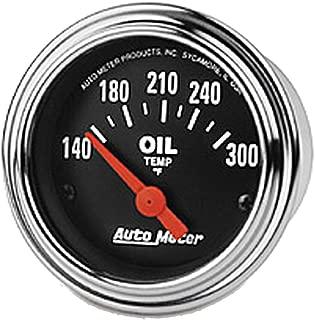 AUTO METER 2543 Traditional Chrome Electric Oil Temperature Gauge